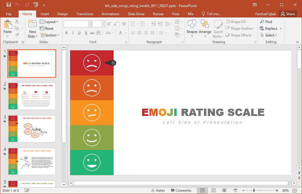 Animated emoji powerpoint template for How to use a template in powerpoint