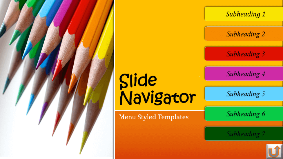interactive slide menu