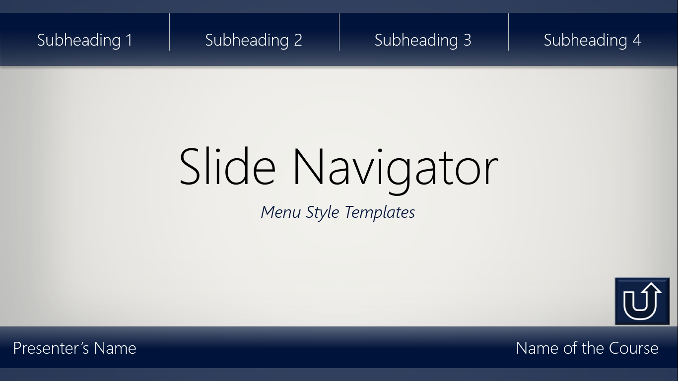 slide navigators interactive templates