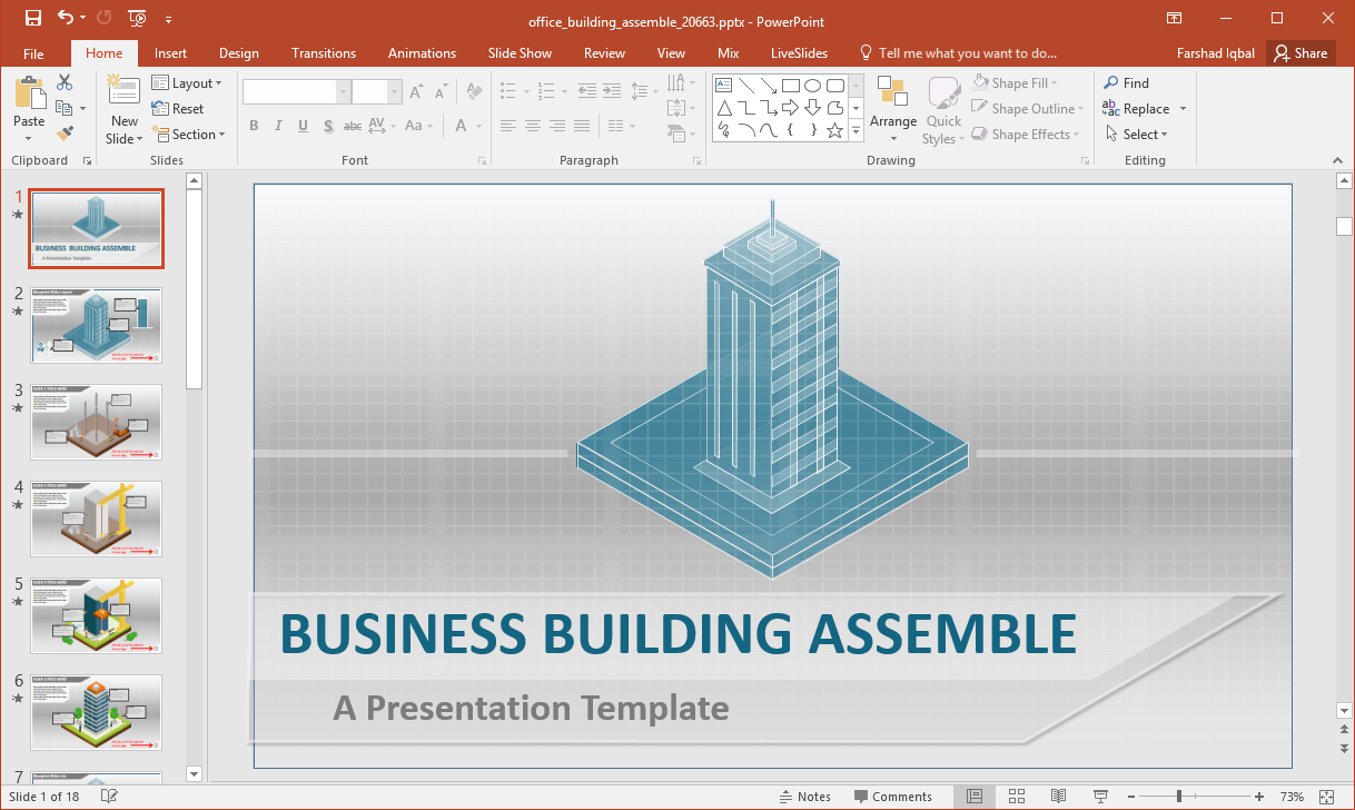 office building animations for powerpoint