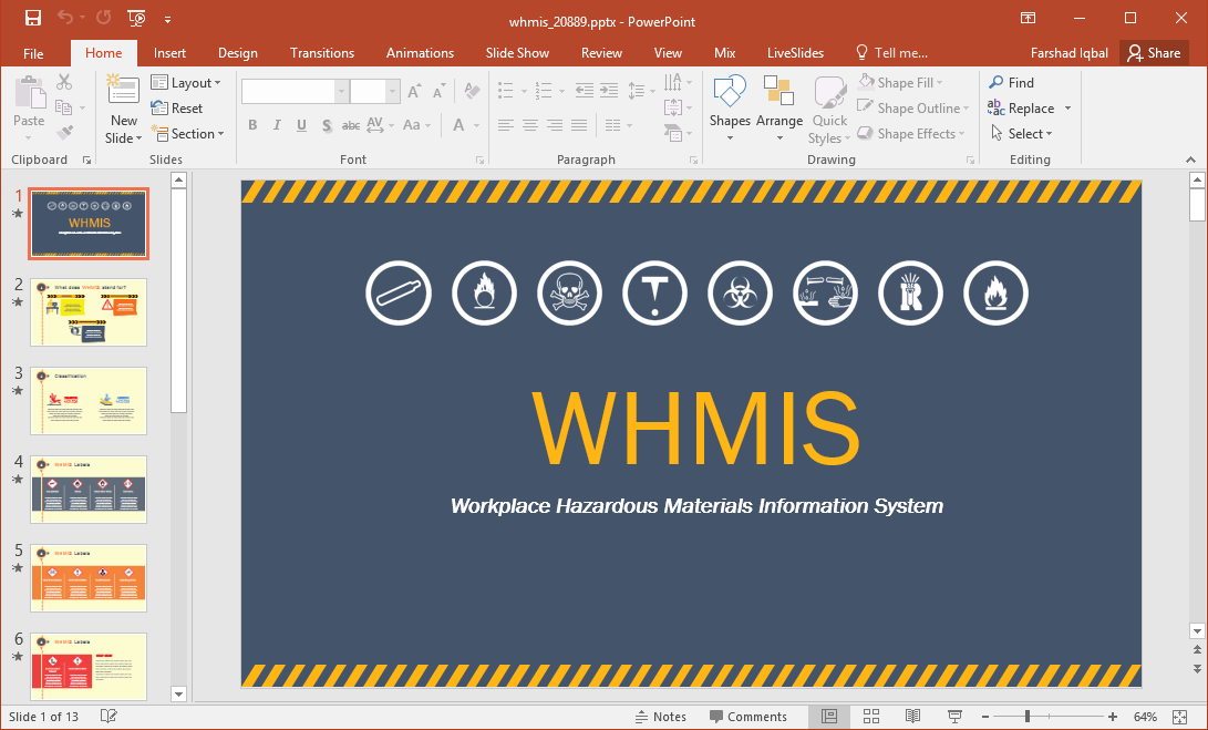 whmis workplace label template - animated whmis powerpoint template