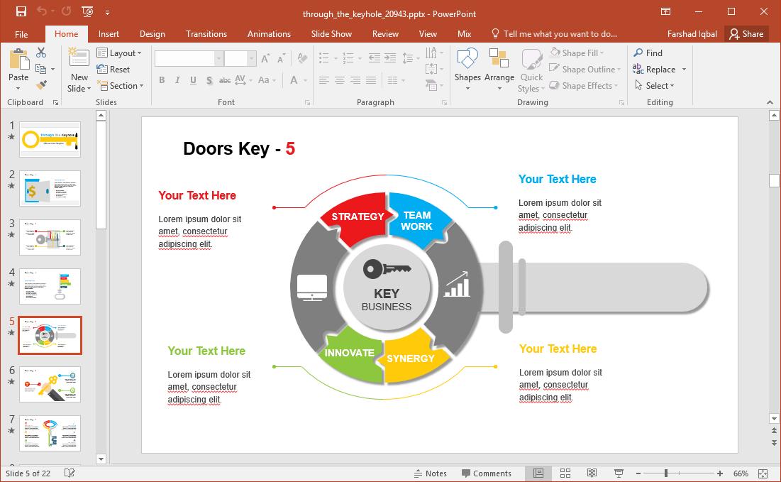 animated key infographic slides