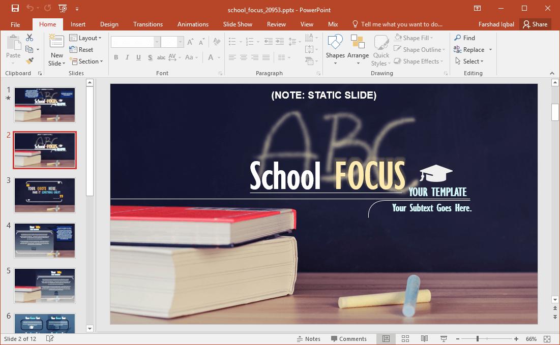 Animated school focus powerpoint template school focus powerpoint template with books background toneelgroepblik Images