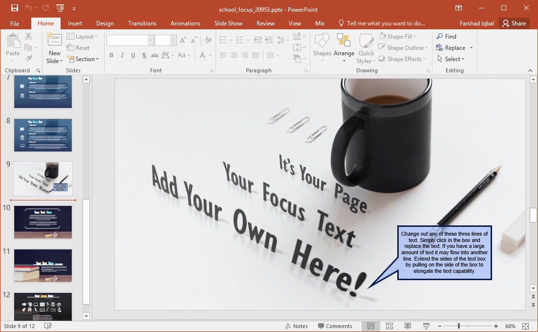 school themed slides