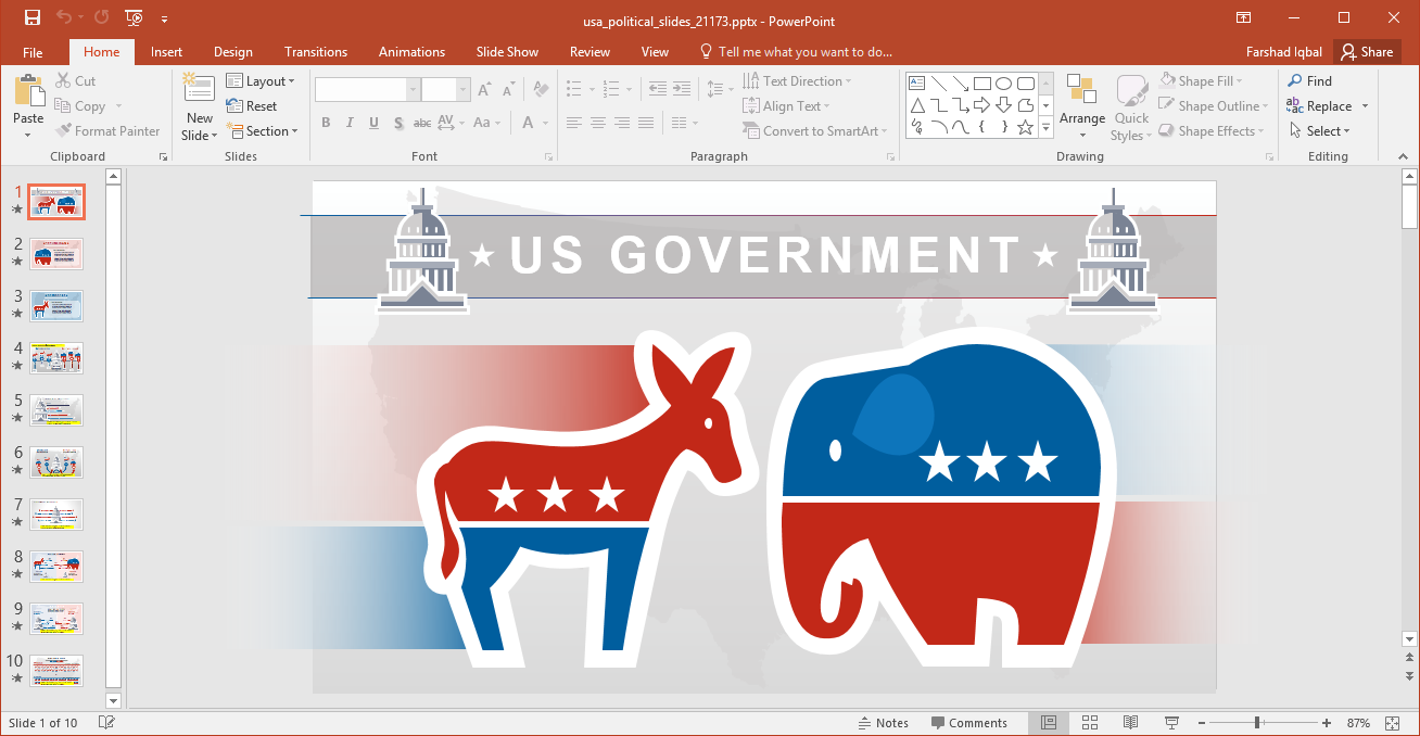 Animated powerpoint templates animated political parties in usa powerpoint template toneelgroepblik Images