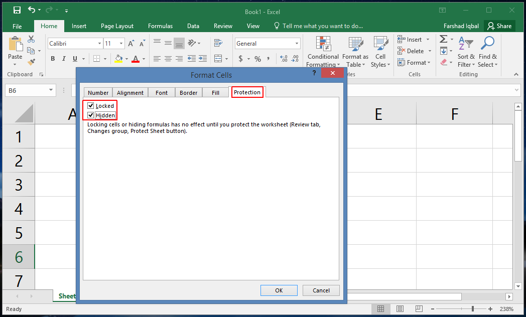 How to Lock Cells in Excel 2016