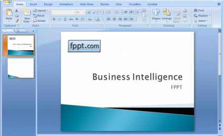 Creating A Business Intelligence Powerpoint Template