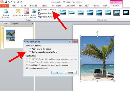 make pdf file size smaller