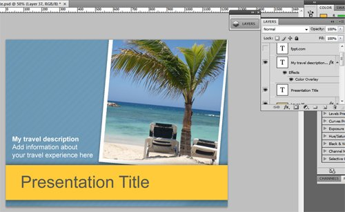 creating a presentation for hotel or travel agency