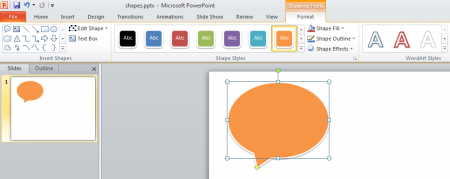Using Shapes in Microsoft PowerPoint