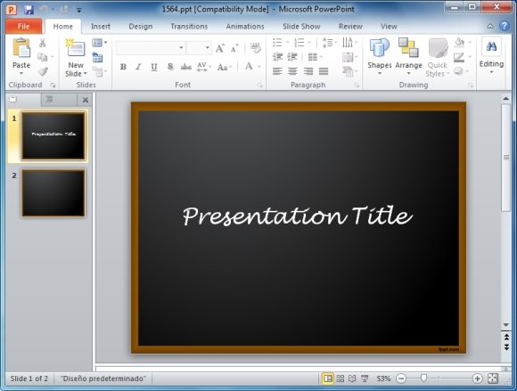 Powerpoint presentation templates for teachers school board powerpoint template toneelgroepblik Image collections