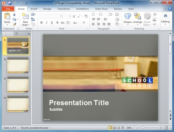 Powerpoint presentation templates for teachers school planning powerpoint template toneelgroepblik Gallery