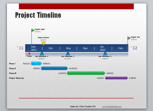 office timeline for word
