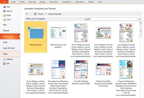 presentation tip: how to create a poster in powerpoint 2010, Modern powerpoint
