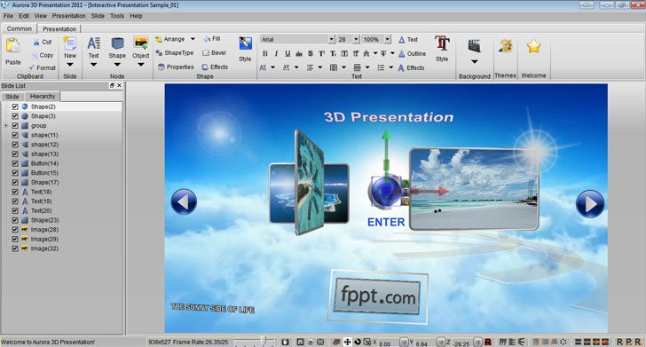 aurora 3d presentation software