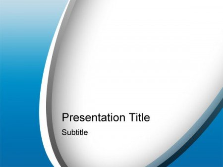 blue psd powerpoint template