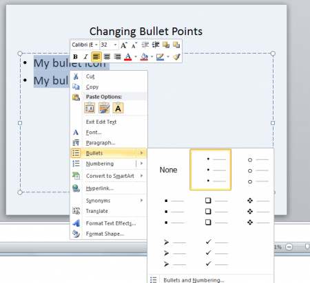 microsoft word how to put two bullets on one line