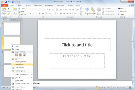 How to delete slides in PowerPoint