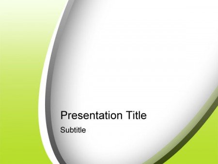 green psd powerpoint template