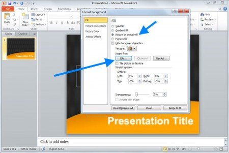 How to change powerpoint background change the background in a powerpoint slide toneelgroepblik Choice Image