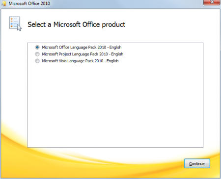 Installing Microsoft Office Language Pack 2010
