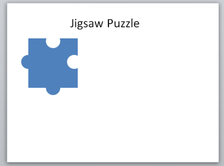 Create a jigsaw puzzle piece in powerpoint using shapes toneelgroepblik