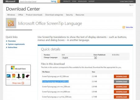 changing office language from any language to english