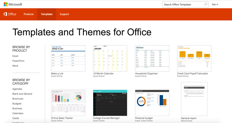 new microsoft office templates website