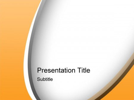orange psd powerpoint template