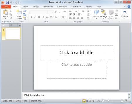 PowerPoint Blank presentation