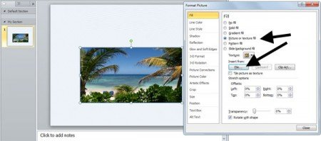 How to fill a shape in PowerPoint with a photo or image