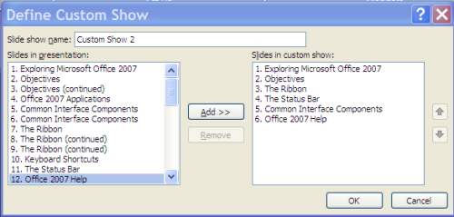how to create a slideshow in powerpoint 2007