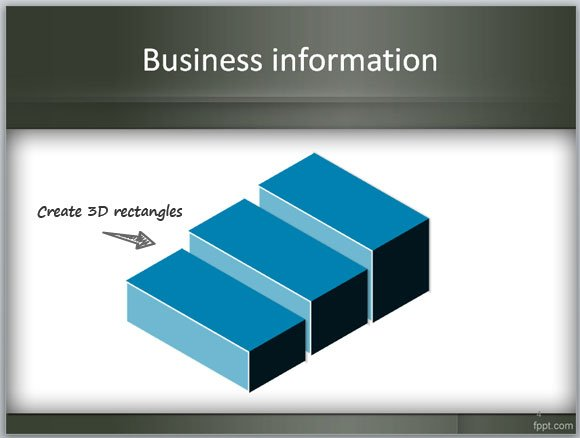 Slides for Comparison using 3D steps in PowerPoint