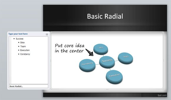 Radial Diagram ppt template