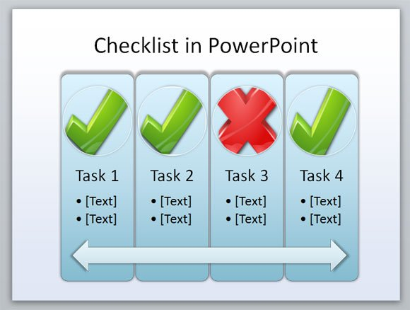 create a checklist powerpoint template