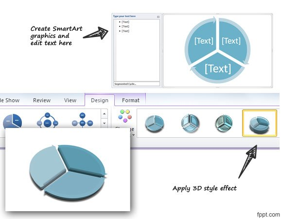 Circular flow diagram in powerpoint using shapes 3d circular flow diagram in powerpoint using shapes ccuart Choice Image