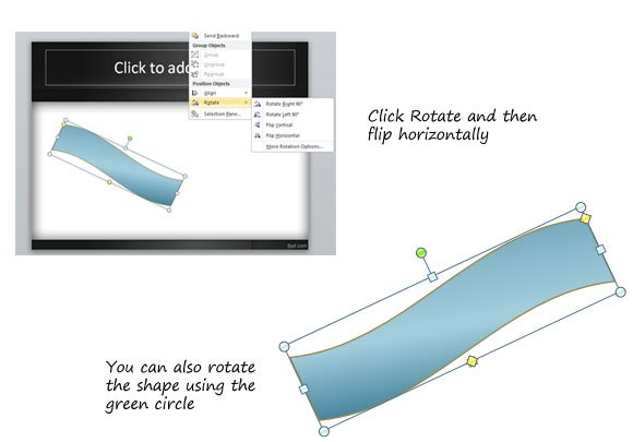 how to create a mirror in powerpoint