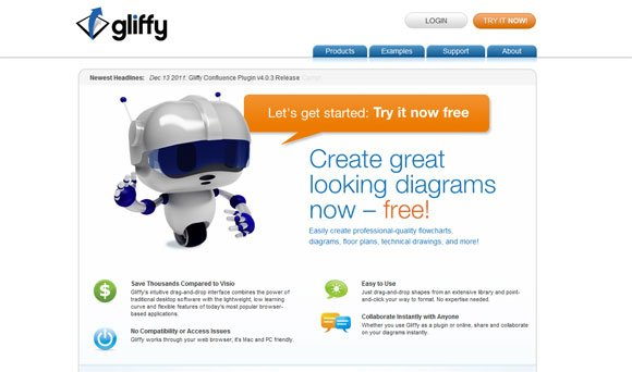 Gliffy Is An Online Flow Chart Generation Alternative That You Can Use If Need A Quick Solution And Free To Generate Charts