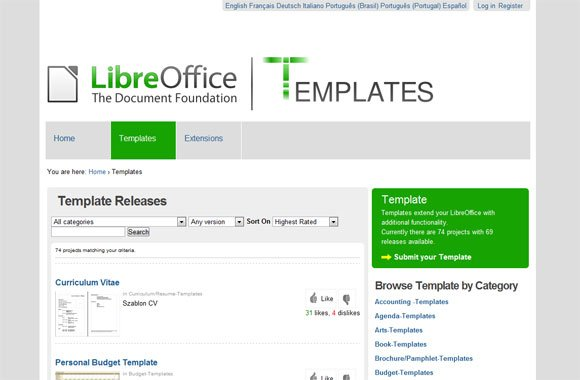 libreoffice templates
