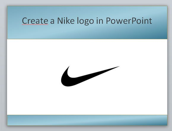 Create A Nike Powerpoint Template Using Shapes