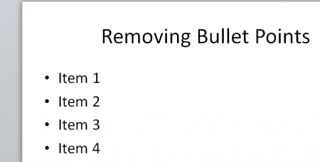 How to remove bullets from powerpoint presentation toneelgroepblik Choice Image
