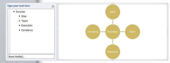 Radial Diagram PowerPoint 2010