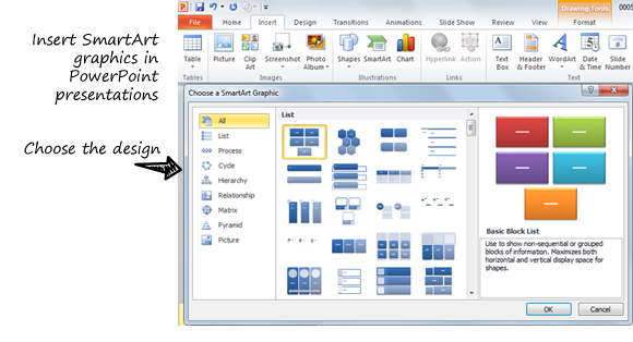 How to create diagrams in powerpoint using smartart ccuart Choice Image