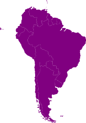 Latin America Map or south america map for PowerPoint