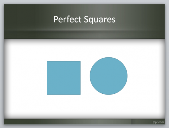 How to create squares in PowerPoint