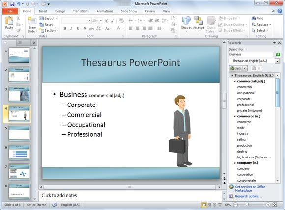 thesaurus powerpoint