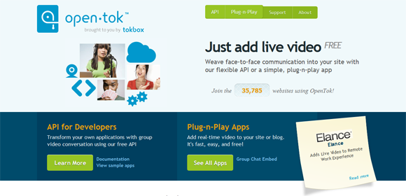 Using TokBox for video conferencing and e-learning presentations