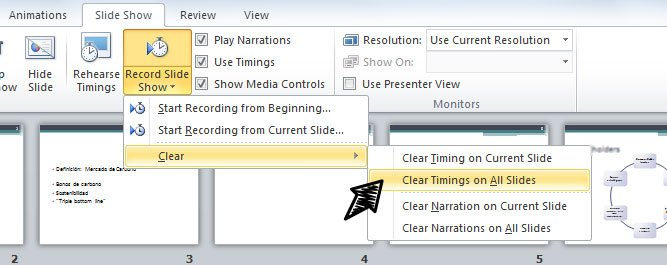 Setting All PowerPoint Slides to Switch After 10 Seconds