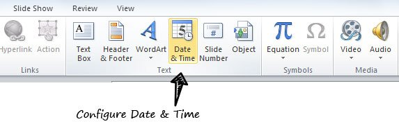 Date and Time in PowerPoint