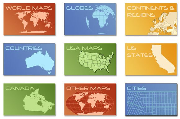 Free download digital vector maps for powerpoint presentations gumiabroncs Image collections
